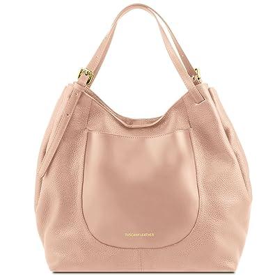 81416844 ANNA - Handtasche Tasche aus Leder, Nude Tuscany Leather