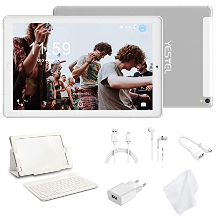 Tablet 10.1 Pulgadas YESTEL Android 8.0 Tablets PC con 3GB RAM & 32GB ROM y 4G LTE Dual SIM Call, 5.0 MP + 8.0 MP HD la Cámara y 8000mAH (WI-FI ,GPS, ...