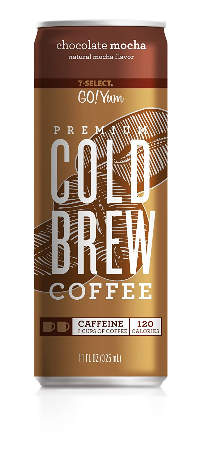 7-Select Premium Cold Brew Coffee-Vanilla Latte, 11 Ounce Cans (12 Pack) 7-Eleven