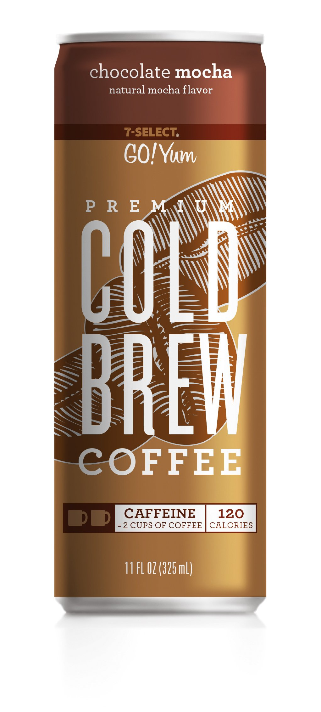 7-Select Premium Cold Brew Coffee-Chocolate Mocha, 11 Ounce Cans (12 Pack) by 7-Eleven