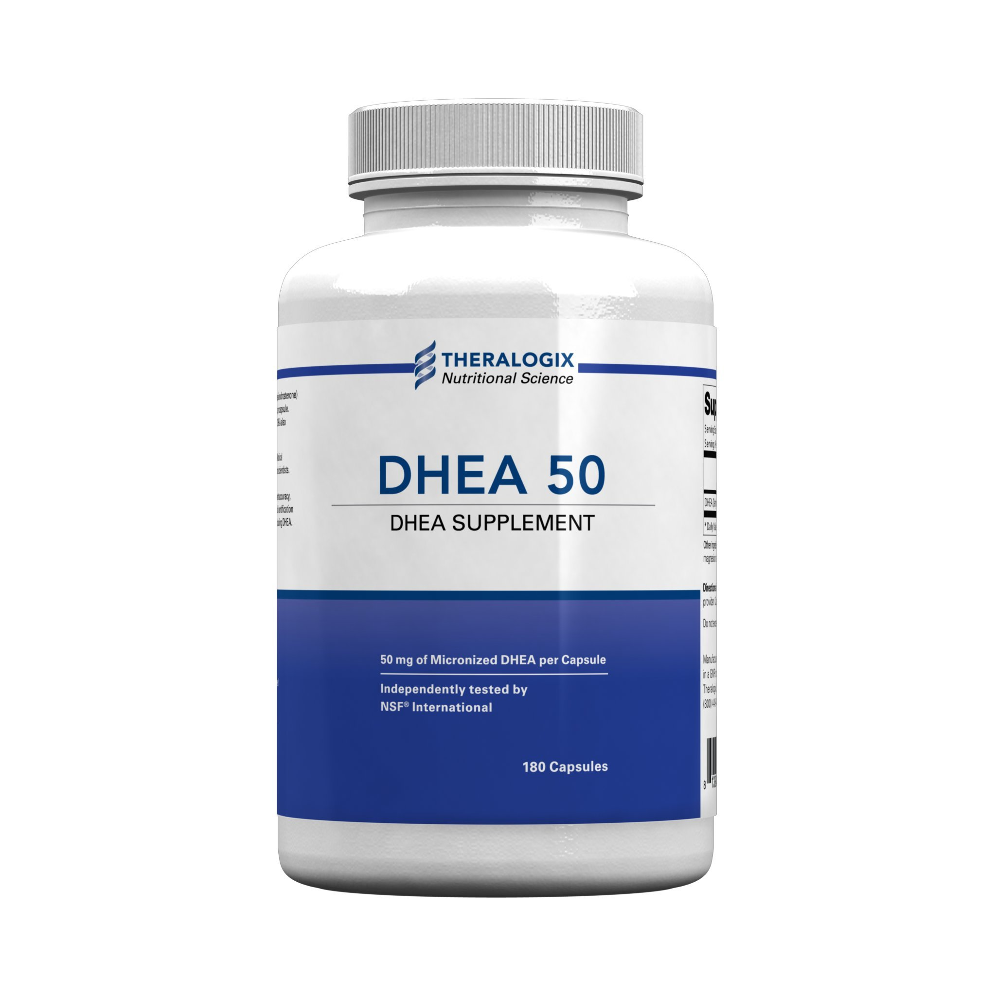DHEA 50 Nutritional Supplement | Micronized DHEA 50mg | 180 Capsules