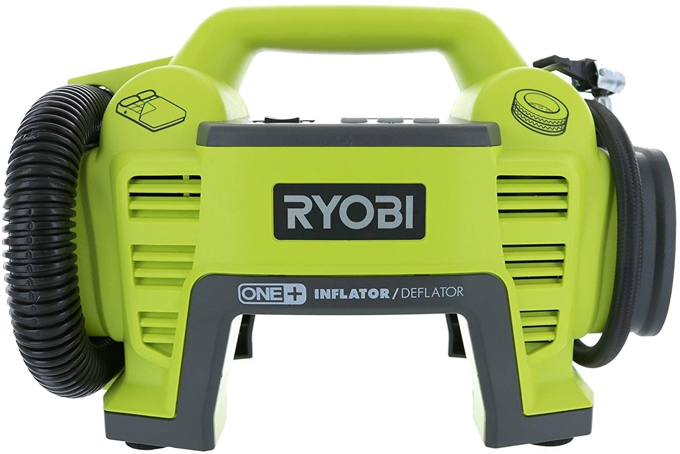 Ryobi P731 One 18v Dual Function Power Inflator Deflator Cordless Air Compressor Kit w Adapters Battery Not Included, Tool Only