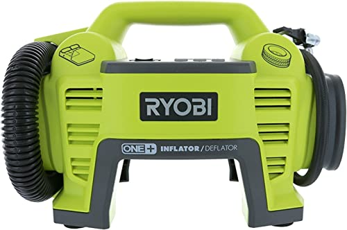 Ryobi P731 One 18v Dual Function Power Inflator Deflator Cordless Air Compressor Kit w Adapters Battery Not Included