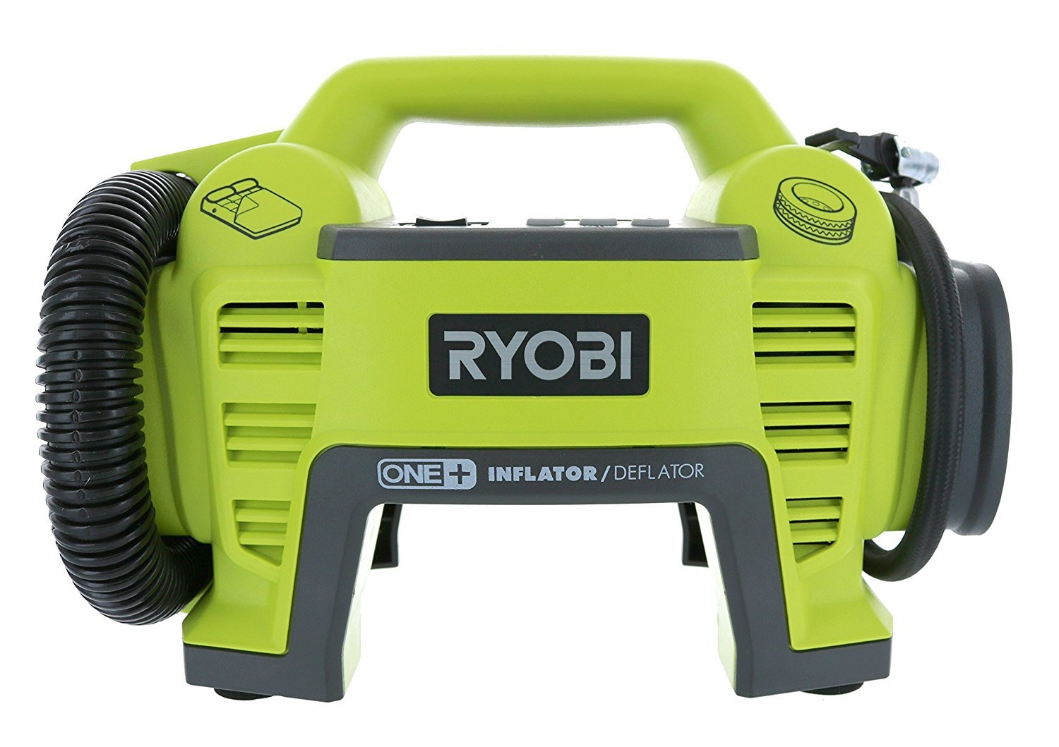 Ryobi P731 One+ 18v Dual Function Power Inflator/Deflator Cordless Air Compressor Kit w/ Adapters (Battery Not Included, Tool Only)