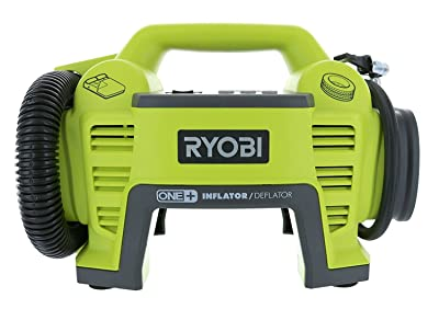 Ryobi P731 One+ 18v Dual Function Power Inflator/Deflator Cordless Air Compressor Kit
