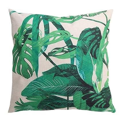 Amazon Com Starnearby Kreative Bambus Muster Baumwolle Kissenbezug