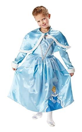 Rubies - Disfraz de Princesa Disney Cenicienta, Invierno en Wonderland para niña, talla S