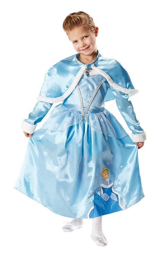 Disney - Disfraz de princesa Cenicienta, Invierno en Wonderland para niña, talla L (I-881850L)