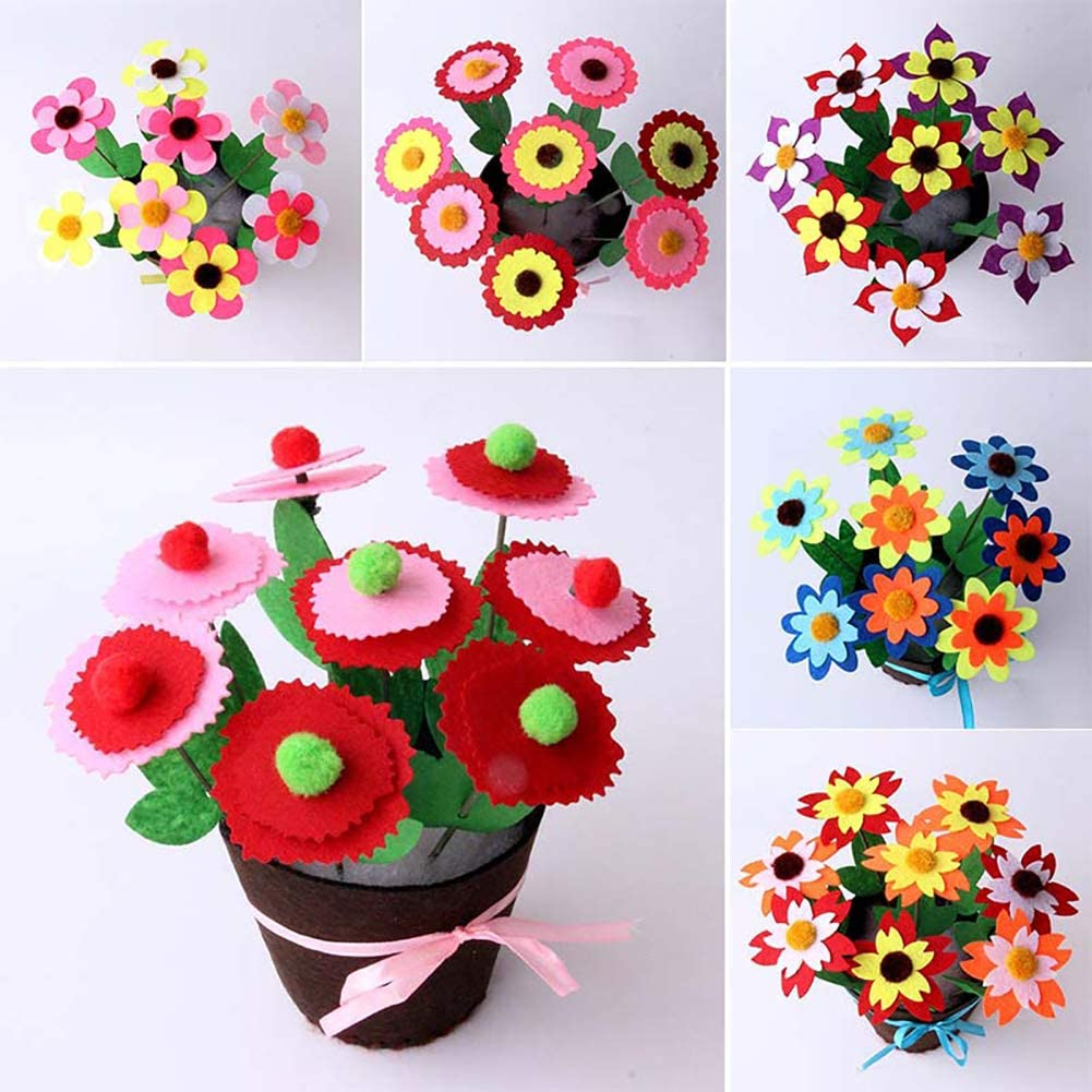 NBEADS Filz Stoff Blumen 120 st/ücke 3 formen Stoff Tuch Blume Appliques Patches F/ür Diy Scrapbooking N/ähen Handwerk Tasche Kleidung Schuhe Dekoration Gemischte Farbe
