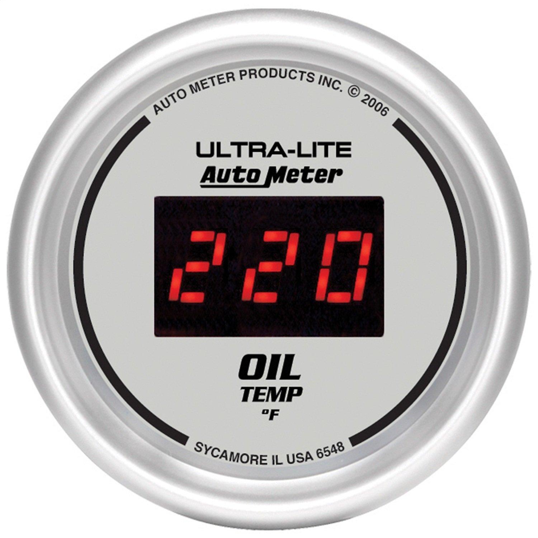 Auto Meter 6548 Ultra-Lite Digital 2-1/16'' 0-340 Degree F Digital Oil Temperature Gauge by Auto Meter