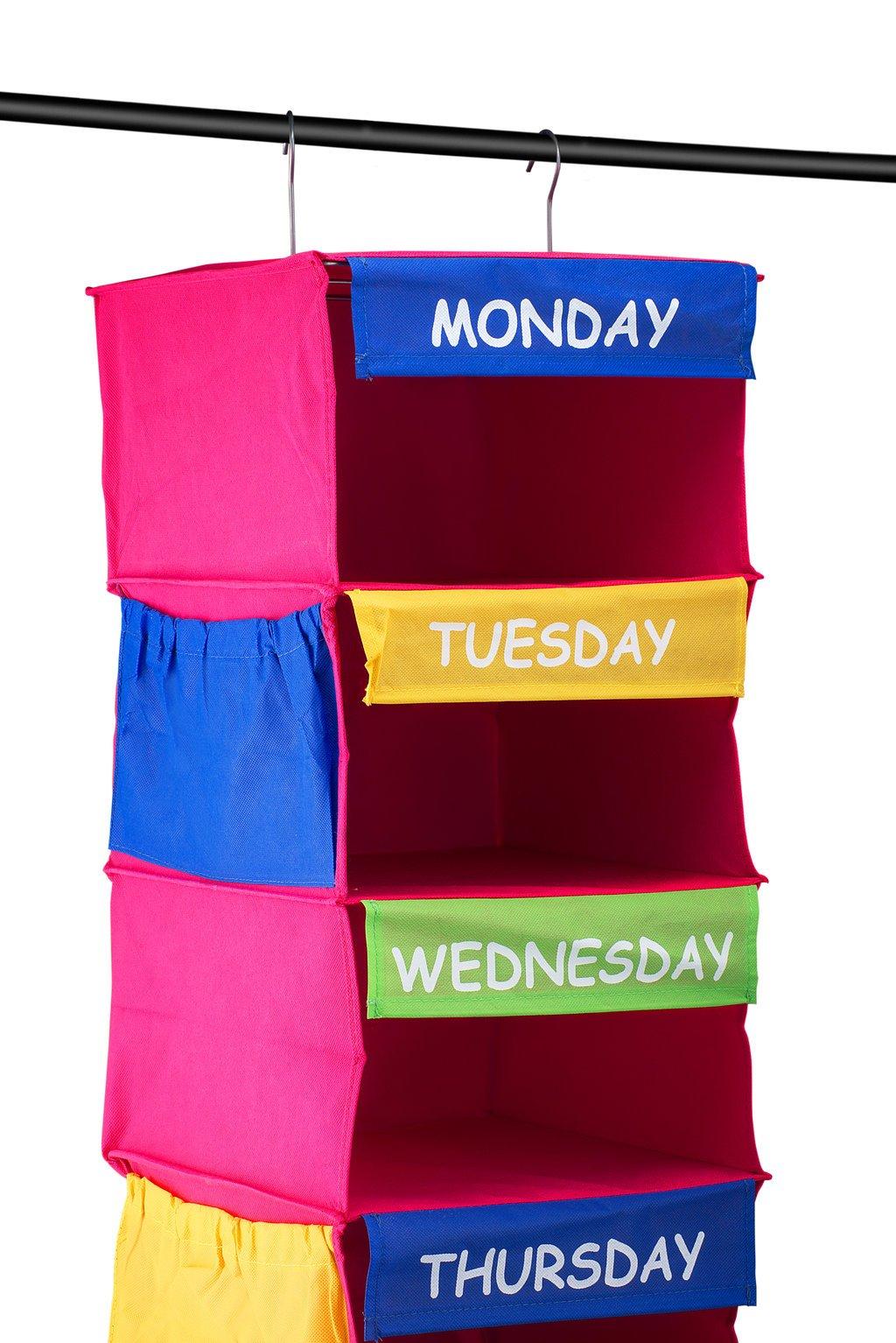 kids hanging closet organizer. Wonderful Closet Saganizer DAILY ACTIVITY ORGANIZER Kids 7 Shelf Portable Closet Hanging  Organizer Great Solutions Inside Hanging Closet Organizer