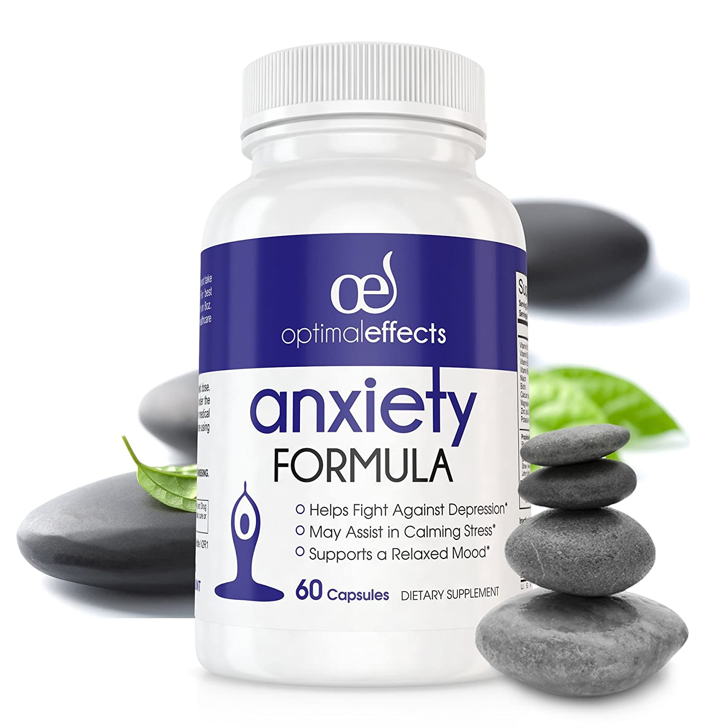 Amazon.com: Stress Relief & Natural Anxiety Supplement by Optimal Effects -  Naturally Manage and Relieve Chronic Stress - Hawthorn, 5-HTP, B-Vitamins,  ...
