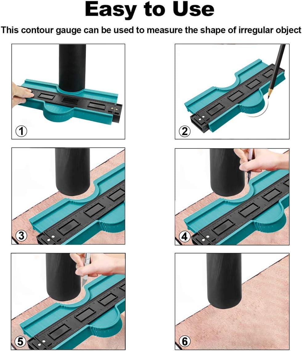 """2Pack Saker Contour Duplication Gauge-Omnigauge Shape Copy Duplicator-5/""""//10/"""""""