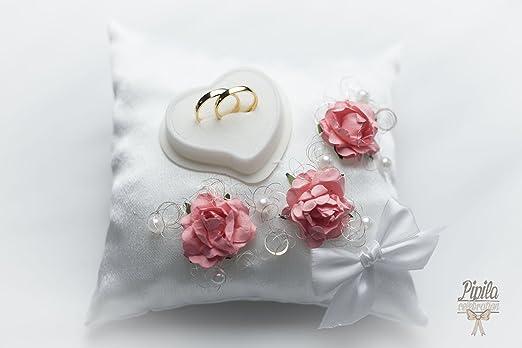 Anillos de boda almohada, cojín, anillo de compromiso, color ...