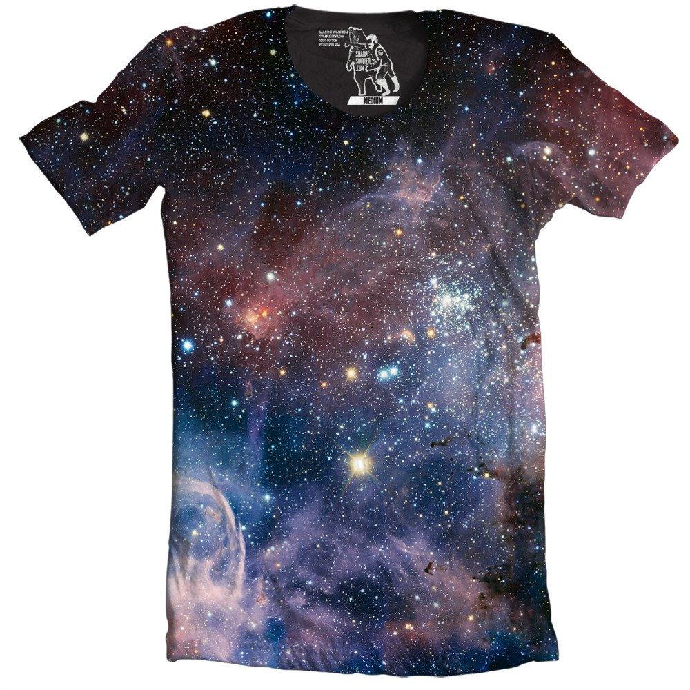 Carina Nebula T Shirt Galaxy Outer Space Graphic Tee Cool Shirts