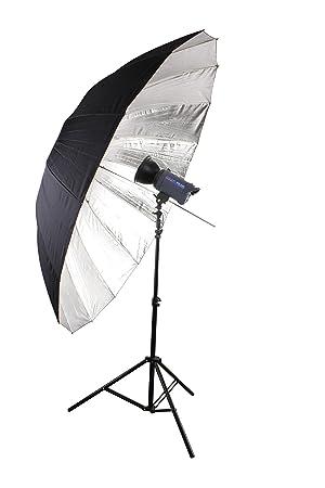 Bresser SM-09 Paraguas Reflector Gigante Plata/Negro 180cm