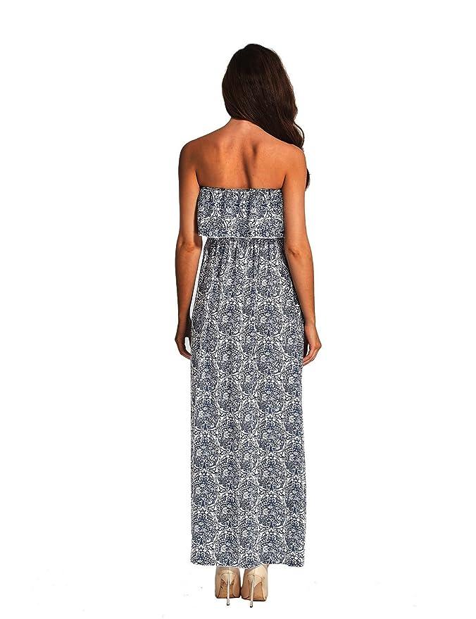 Vestido para Mujer Largo sin Mangas de Fiesta Playa Cóctel Impresión Floral Elegante: Amazon.es: Ropa y accesorios