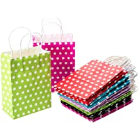 CozofLuv 30 Pack Paper Bags with Handles Party Supplies Bags Gift Bags Wedding Favor Bags Kraft Paper Bags Birthday Bags…