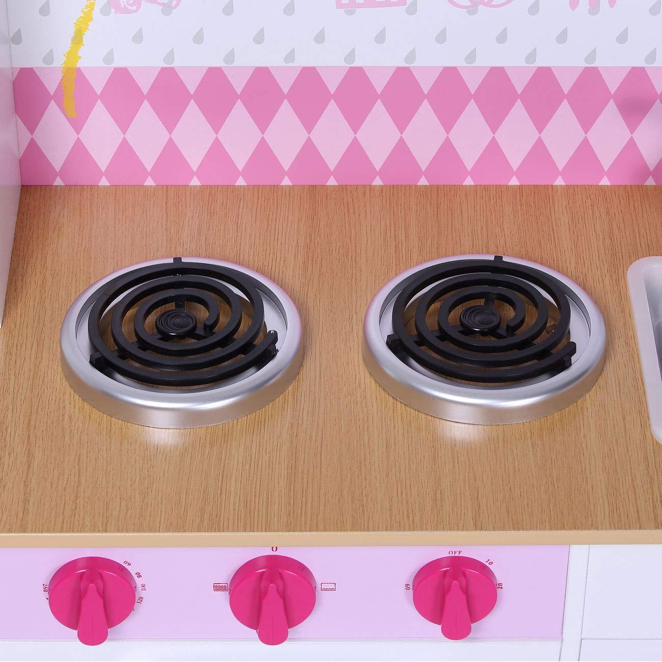 Baby Vivo Vivo Vivo Kinderküche Spielküche aus Holz Kinderspielküche Küche Holzküche Spielzeugküche - Romy in Weiß 373b61