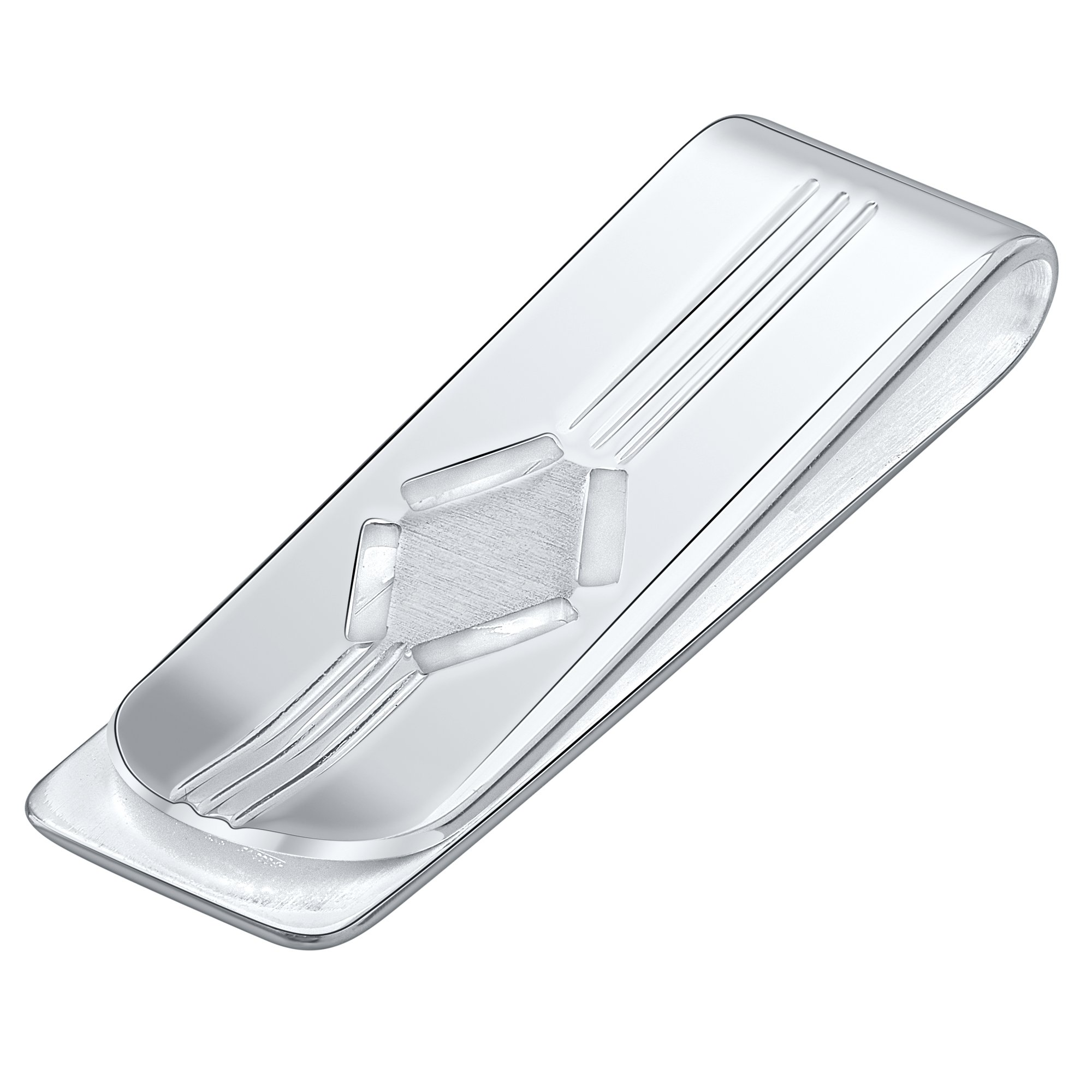 Sterling Silver .925 Money Clip, Engravable Solid Design, Designed and Made In Italy. By Sterling Manufacturers (Silver) by Sterling Manufacturers (Image #1)