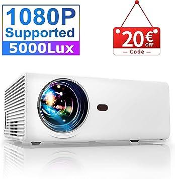 YABER - Proyector de vídeo portátil (4500 lúmenes, Mini proyector ...
