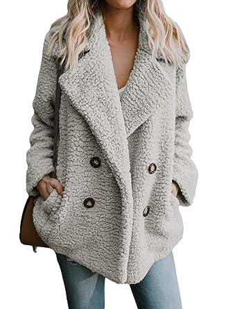 détaillant en ligne 95557 f8b78 Yidarton Femme Manteau Manche Longue Streetwear Jacket Cardigan Mode Hiver  Chaud Peluche Blouson