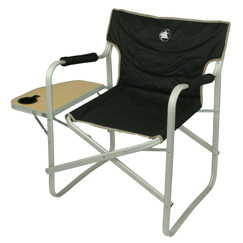 10T Camperchair XL Alu Campingstuhl mit Armlehnen Gartenstuhl mit ...