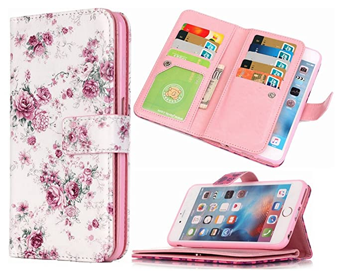 reputable site 0613b c2f58 iPhone 5S Wallet Case HYSJY iPhone SE Wallet Purse For Women Men with card  Slots Stand Feature Card Holer Folio wallet case cover Fit iPhone ...