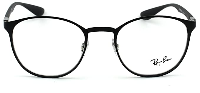 f693be3b36 Amazon.com  Ray-Ban RX6355 Unisex Round Metal Eyeglasses (Matte Black Frame  2503