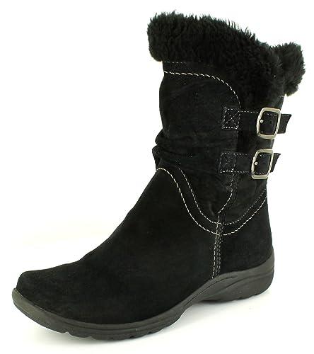 cab46a13e97c Earth Spirit Ladies Womens Black Suede Calf Length Boots - Black - UK SIZE 8