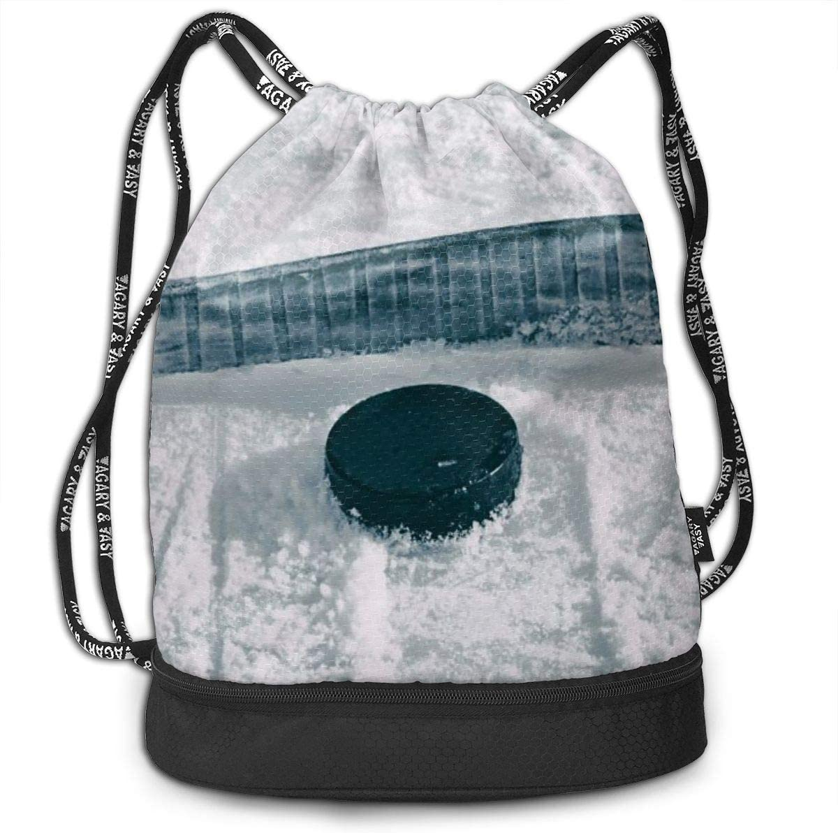 GymSack Drawstring Bag Sackpack Ice Hockey Sport Cinch Pack Simple Bundle Pocke Backpack For Men Women