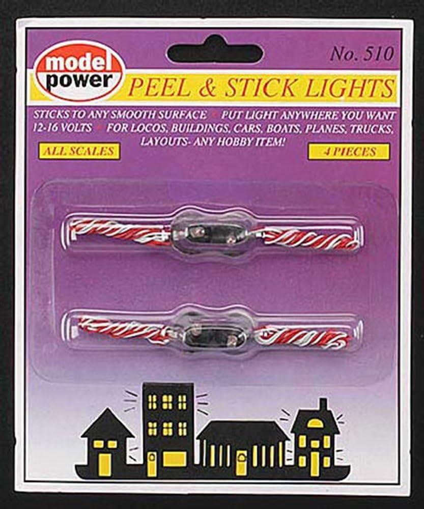 4-Pieces Model Power Peel /& Stick Lights