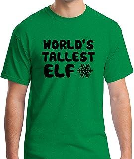 81526e8f9 AW Fashions World's Tallest Elf - Funny Elf Christmas Tee Elves Premium  Men's T-Shirt