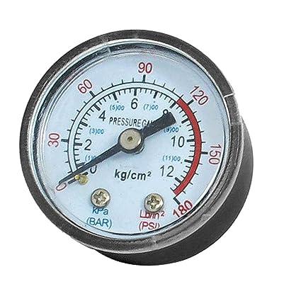 1/8BSP compresor de aire hidráulico montar 0-180 PSI manómetro