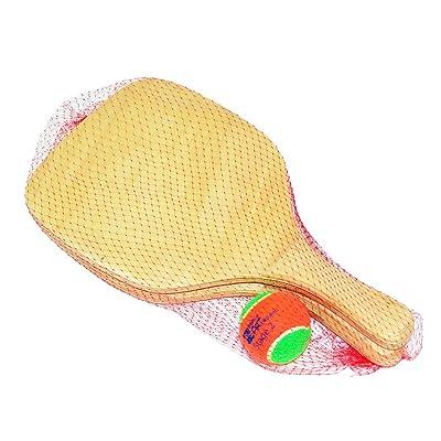 BEACH ART 2014, Juego Raquetas con Pelota Unisex - Adulto, Madera, 40 x 22 x 1 cm: Deportes y aire libre