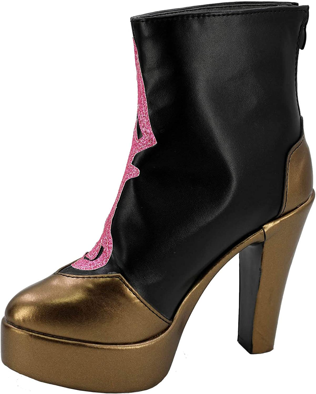 GOTEDDY Women Girl Halloween Cosplay Shoes Black Long Boots Costume Accessories