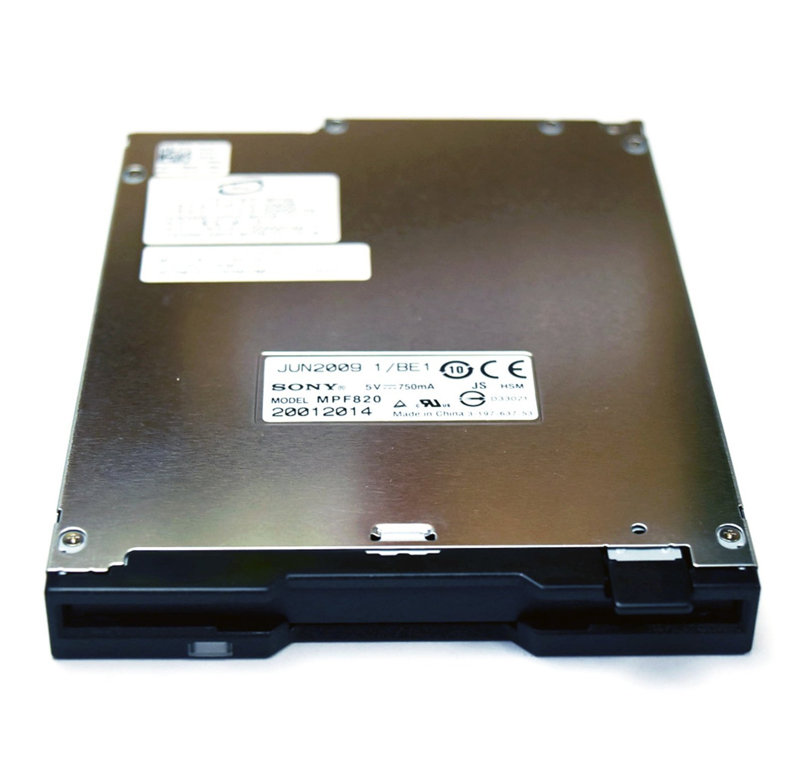 Genuine OEM Dell CR620 Slim Internal Floppy Disk Drive Sony MPF820 1.44 MB 3.5 Inch IDE Floppy Drive 36L8645 Black Front Bezel Faceplate