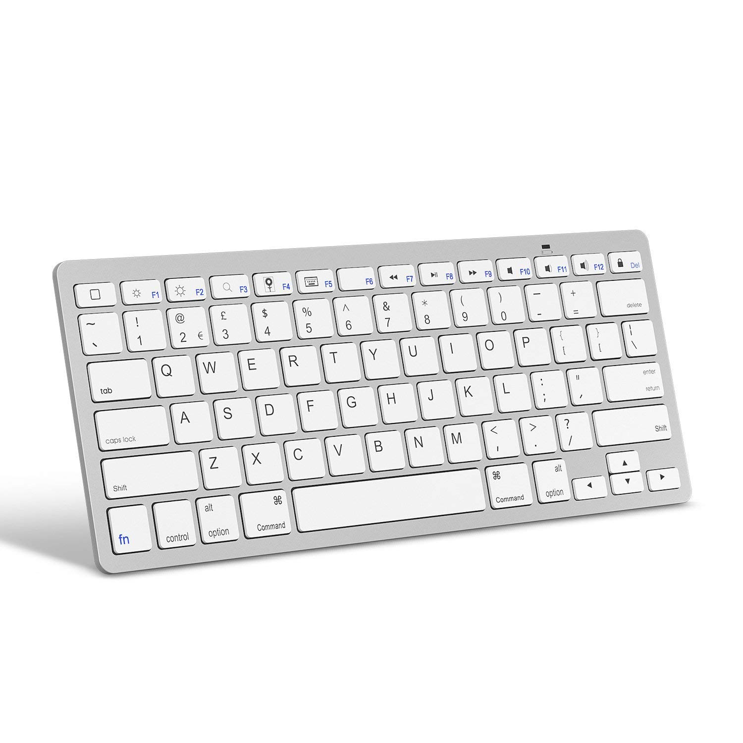 iPhone and Other Bluetooth Enabled Devices iPad 10.2//9.7 Inch iPad Mini OMOTON Ultra-Slim Bluetooth Keyboard Compatible with 2018 iPad Pro 11//12.9 White iPad Air