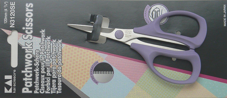 Tijera Kai 3120 4 3/4 Inch Serrated Blade Patchwork Scissor
