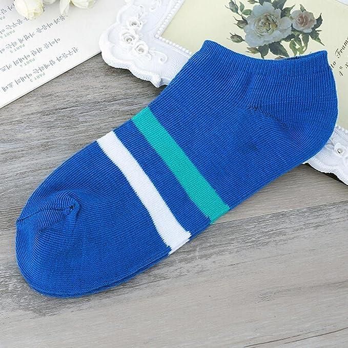 VJGOAL Moda casual unisex Zapatillas de calcetines a rayas cómodas ...