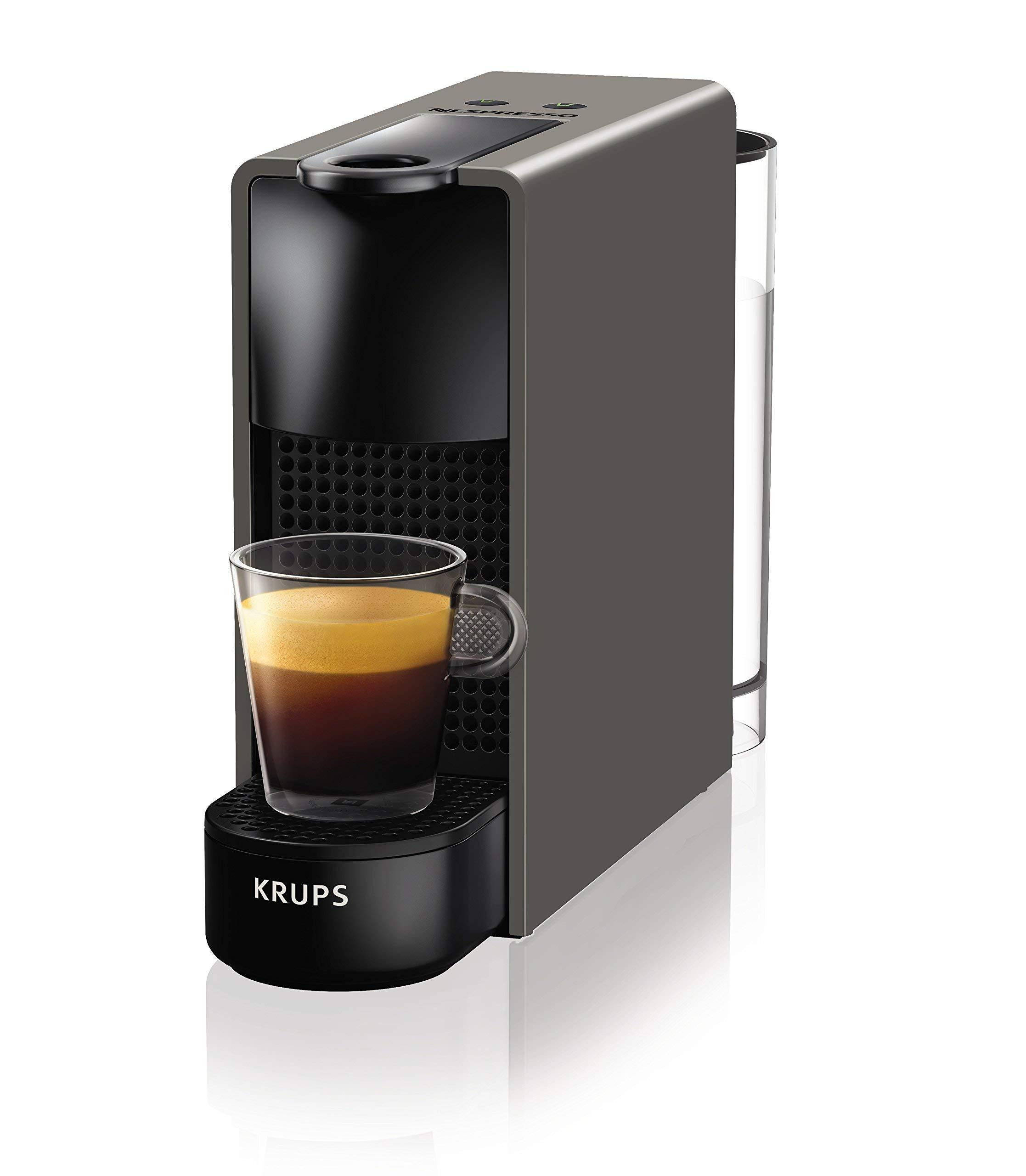 Nespresso Essenza Mini XN110B Cafetera de cápsulas de 19 bares con 2 programas de café,