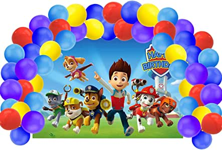 Backdrop Customized for Birthday Decor Num191 HoRmi Replacement for Paw Patrol Party Decoration Supplies