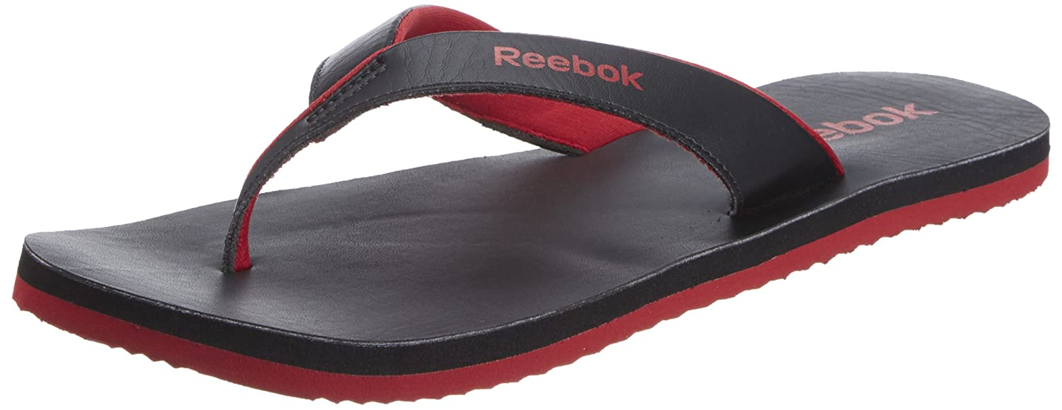78b97cea0f640 Reebok Men s Advent Ii Lp Black and Ex.Red Leather Thong Sandals - 14 UK   Buy Online at Low Prices in India - Amazon.in