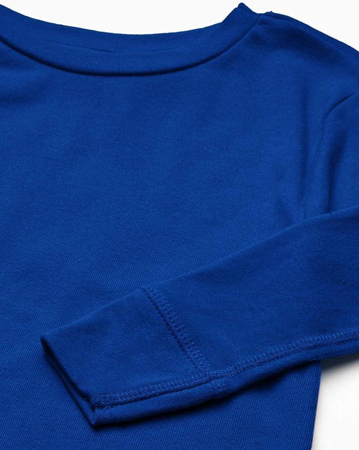 AquaGuard Girls Big Baby Rib Pajama Top-2 Pack Royal 12