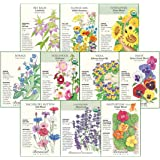 """Botanical Interests """"Edible Flowers Seed Collection - 10 Packets with Gift Box…"""