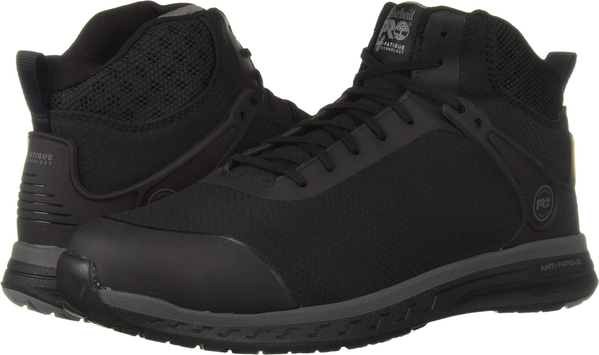 Timberland PRO Men's Drivetrain Mid Composite Toe Industrial Boot, Black, 9.5 M US by Timberland PRO