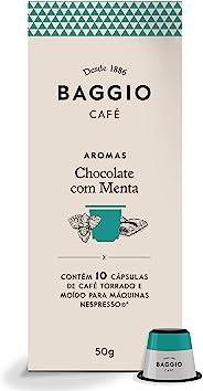 Cápsulas De Café Aroma Chocolate C/ Menta Baggio, Compatível Com Nespresso, Contém 10 Cápsulas