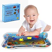 Inflatable Tummy Time Water Mat for Infants/Toddlers/Babys, Premium Fun Activity Play Center for Your Baby's Stimulation Growth and Development