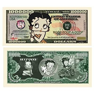 "25 Betty Boop Million Dollar Bills with Bonus ""Thanks a Million"" Gift Card Set: Everything Else"