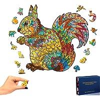 Rompecabezas de Madera, Ardilla Puzzle de Madera Piezas de Rompecabezas de Formas únicas Puzzle Animales 3D para Adultos…